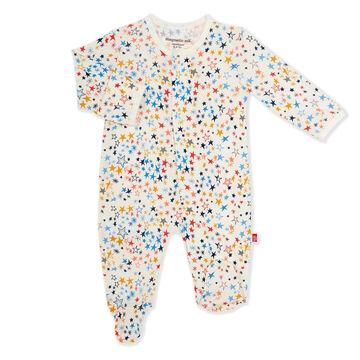 Magnetic Me Infant Girls Starburst Modal Magnetic Footie Pajama