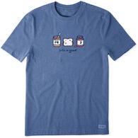 Life is Good Men's Peanut Butter & Jelly Vintage Crusher Short-Sleeve T-Shirt
