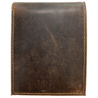 Deerfield Leathers Men's Crazy Horse Rustic Bi-Fold 12-Slot RFID Leather Wallet