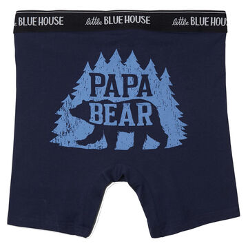 Hatley Little Blue House Mens Woods Papa Bear Boxer Brief