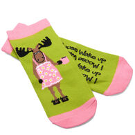Hatley Women's I Moose Wake Up No-Slip Ankle Sock