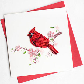 Quilling Card Cardinal Everyday Card