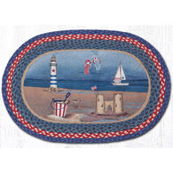 Capitol Earth Braided Oval American Coast Rug