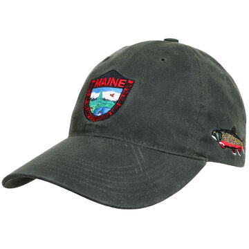 Maine Inland Fisheries and Wildlife Mens Waxed Oil Cloth Trout Hat