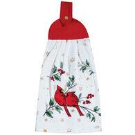 Kay Dee Designs Christmas Cardinal Glitter Tie Towel