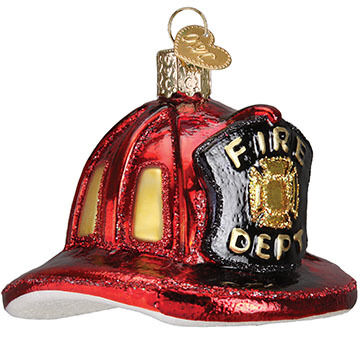 Old World Christmas Fireman's Hat Ornament