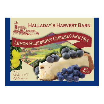 Halladay's Harvest Barn Lemon Blueberry Cheesecake Mix