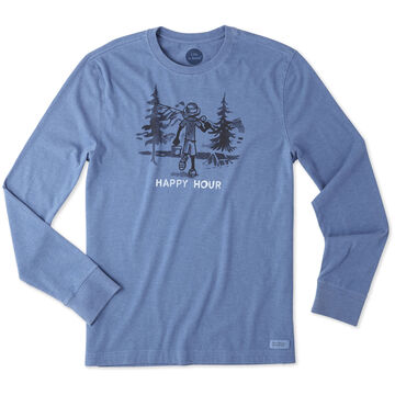 Life is Good Mens Happy Hour Fish Crusher Long-Sleeve T-Shirt