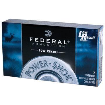 "Federal Power-Shok Buckshot (LR) 12 GA 2-3/4"" 9 Pellet 00 Buck Shotshell Ammo (5)"