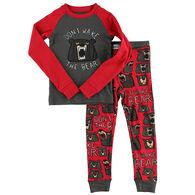 Lazy One Toddler Boy's Don't Wake The Bear PJ Set