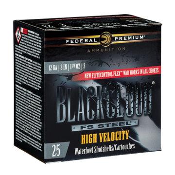 Federal Premium Black Cloud FS Steel High Velocity 12 GA 3 1-1/8 oz. #4 Shotshell Ammo (25)
