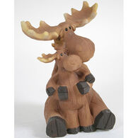 Slifka Sales Co Moose With Baby Figurine