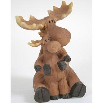 Slifka Sales Co Moose With Baby Figurine