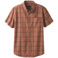 prAna Men's Broderick Window Pane Plaid Short-Sleeve Shirt