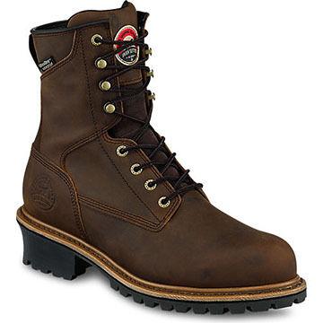Irish Setter Mens Mesabi Waterproof Steel Toe EH Logger Work Boot, 600g