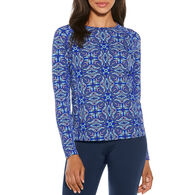 Coolibar Women's Print Long-Sleeve Swim Shirt