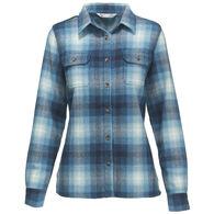 Woolrich Women's Bering Wool Plaid Long-Sleeve Shirt