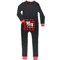 Lazy One Men's Moose Caboose Onesie Flapjack