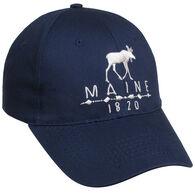 Polar Graphics Men's Ace 1820 Maine Moose Cap