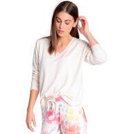 P.J. Salvage Women's Happy Bloom V-Neck Sleep Long-Sleeve Shirt