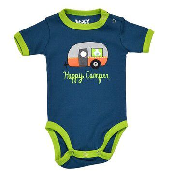 Lazy One Infant Boys & Girls Happy Camper Night Out Creeper