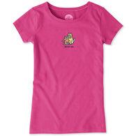 Life is Good Girl's Besties Vintage Crusher Short-Sleeve T-Shirt