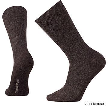 SmartWool Mens Heavy Heathered Rib Crew Sock