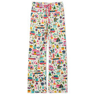 Hatley Little Blue House Women's Glamping Jersey Pajama Pant