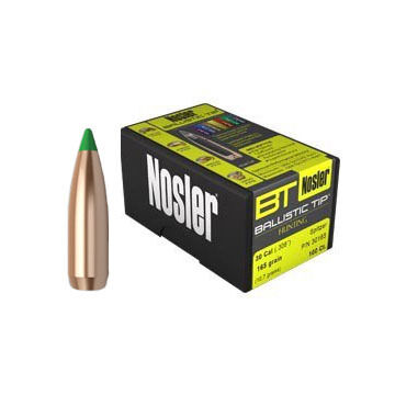 "Nosler Ballistic Tip 30 Cal. 180 Grain .308"" Spitzer Point / Green Tip Rifle Bullet (50)"