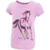 Carhartt Infant/Toddler Girls' Painterly  Horse Cotton Slub Short-Sleeve T-Shirt