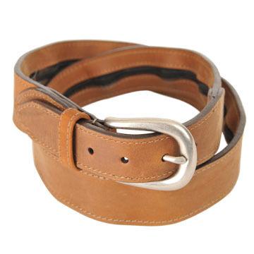 Thomas Bates Men's Leather Travel Belt