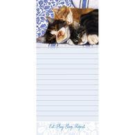 Pumpernickel Press Sleepy Kitties Magnetic List Notepad