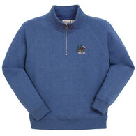 Lakeshirts Women's Blue 84 Maine Moose 1/4-Zip Sweatshirt