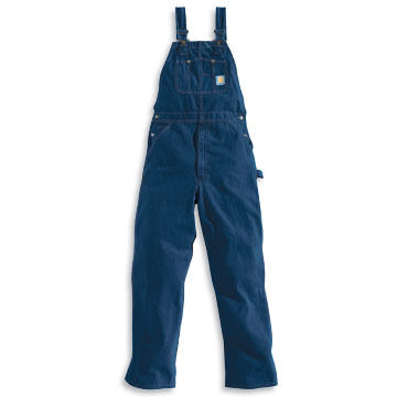 Carhartt Men's Big & Tall Denim Bib Unlined Overall