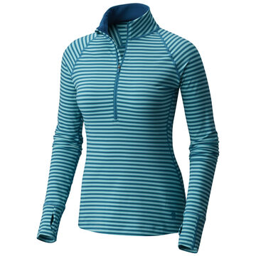 Mountain Hardwear Women's Butterlicious Stripe 1/2-Zip Long-Sleeve Shirt