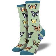 Socksmith Design Women's Majestic Butterfly Crew Sock