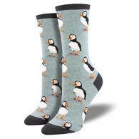 Socksmith Design Women's Puffins Crew Sock