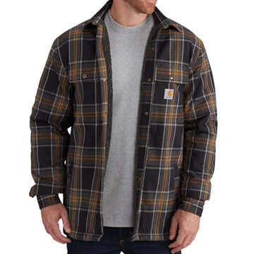 Carhartt Men's Hubbard Sherpa-Lined Flannel Long-Sleeve Shirt Jac