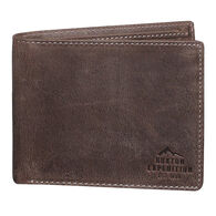 Buxton Men's Expedition Tumbled Buffalo RFID Slimfold Wallet