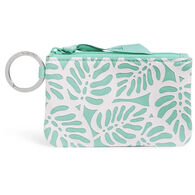 Vera Bradley Recycled Cotton w/ Raised Silicone Accents Zip ID Case