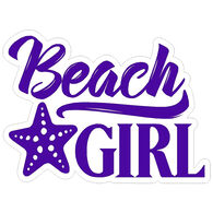 Sticker Cabana Beach Girl Sticker