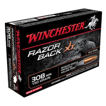 Winchester Razorback XT Lead-Free 308 Win 150 Grain HP Rifle Ammo (20)