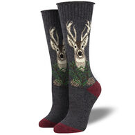 Socksmith Design Women's Recycled Cotton The Buck Stops Here Crew Sock