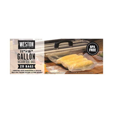 Weston Gallon 11 x 16 Vacuum Bag - 20 Pk.