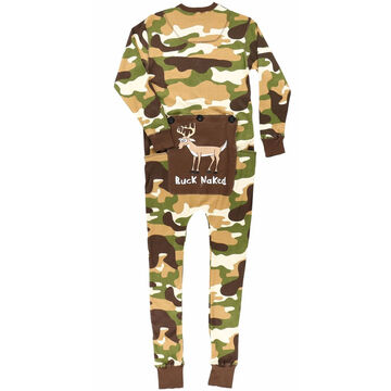 Lazy One Men's Buck Naked Green Camo Flapjack