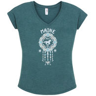 Artforms Women's Dream Catcher Horse Maine Short-Sleeve T-Shirt