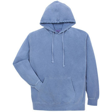 Alpha Mens Pigment-Dyed Hooded Sweatshirt