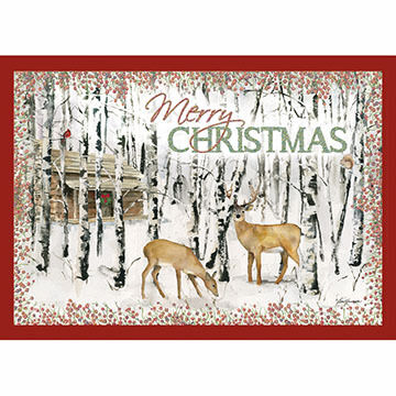 LPG Greetings Merry Christmas Deer Boxed Christmas Cards