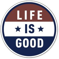 Life is Good Americana Sphere Magnet