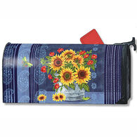 MailWraps Denim Sunflower Mailbox Cover